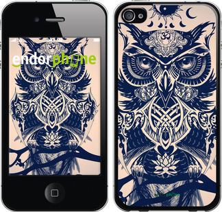 """Чехол для iPhone 4s """"Узорчатая сова"""" - интернет-магазин чехлов endorphone.com.ua"""