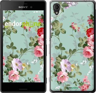 "Чехол для Sony Xperia M4 Aqua E2312 ""Цветочные обои 2"" - интернет-магазин чехлов endorphone.com.ua"