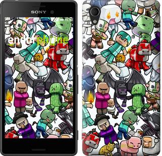 "Чехол для Sony Xperia M4 Aqua E2312 ""Minecraft 3"" - интернет-магазин чехлов endorphone.com.ua"