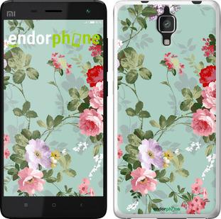 """Силиконовый чехол для Xiaomi Mi4 """"Цветочные обои 2"""" - интернет-магазин чехлов endorphone.com.ua"""