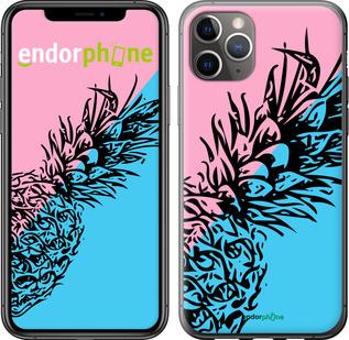 "TPU черный чехол для iPhone 11 Pro Max ""Ананас 1"" - интернет-магазин чехлов endorphone.com.ua"