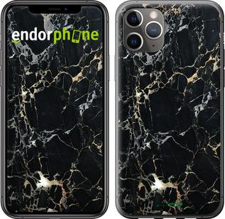 """Чехол для iPhone 11 Pro Max """"Черный мрамор"""" - интернет-магазин чехлов endorphone.com.ua"""