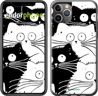 """Чехол для iPhone 11 Pro Max """"Коты v2"""" - интернет-магазин чехлов endorphone.com.ua"""