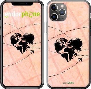"""TPU черный чехол для iPhone 11 Pro Max """"Путешествуй"""" - интернет-магазин чехлов endorphone.com.ua"""