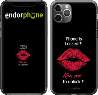 """TPU черный чехол для iPhone 11 Pro Max """"Разблокируй-поцелуй"""" - интернет-магазин чехлов endorphone.com.ua"""