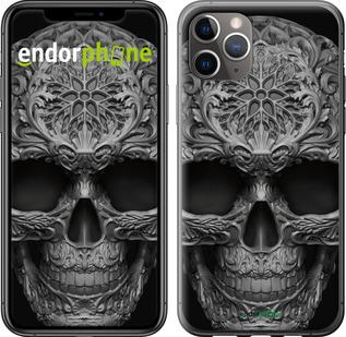 "TPU черный чехол для iPhone 11 Pro Max ""skull-ornament"" - интернет-магазин чехлов endorphone.com.ua"