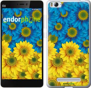 """для Xiaomi Mi4i """"Жёлто-голубые цветы"""" - интернет-магазин чехлов endorphone.com.ua"""