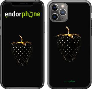 """TPU черный чехол для iPhone 11 Pro """"Черная клубника"""" - интернет-магазин чехлов endorphone.com.ua"""
