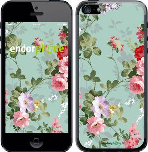 """Чехол для iPhone SE """"Цветочные обои 2"""" - интернет-магазин чехлов endorphone.com.ua"""