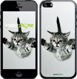 """Чехол для iPhone 5 """"Летящий котёнок"""" - интернет-магазин чехлов endorphone.com.ua"""