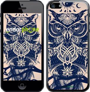 """Чехол для iPhone 5s """"Узорчатая сова"""" - интернет-магазин чехлов endorphone.com.ua"""