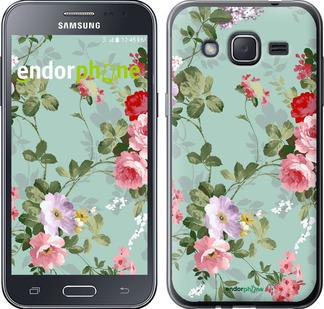 """Чехол для Samsung Galaxy J2 J200H """"Цветочные обои 2"""" - интернет-магазин чехлов endorphone.com.ua"""