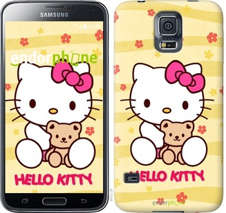 "Чехол для Samsung Galaxy S5 Duos SM G900FD ""Hello kitty. Yellow"" - интернет-магазин чехлов endorphone.com.ua"