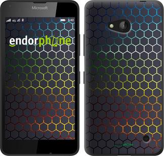 """Чехол для Microsoft Lumia 640 """"Переливающиеся соты"""" - интернет-магазин чехлов endorphone.com.ua"""