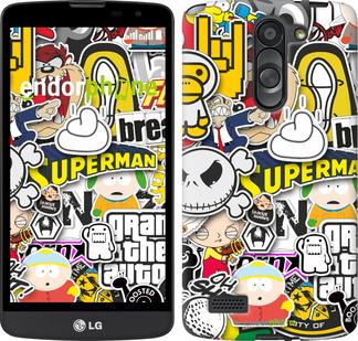 """Силиконовый чехол для LG L Bello D335 """"Popular logos"""" - интернет-магазин чехлов endorphone.com.ua"""