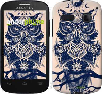 """Силиконовый чехол для Alcatel One Touch Pop C3 4033D """"Узорчатая сова"""" - интернет-магазин чехлов endorphone.com.ua"""