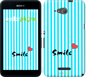 """Силиконовый чехол для Sony Xperia E4g """"Улыбнись 1"""" - интернет-магазин чехлов endorphone.com.ua"""