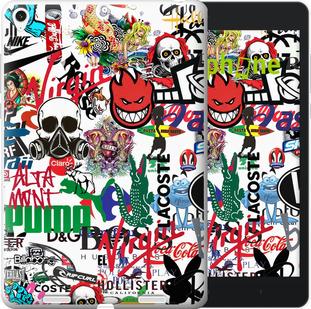"""Силиконовый чехол для Xiaomi Mi Pad """"Many different logos"""" - интернет-магазин чехлов endorphone.com.ua"""