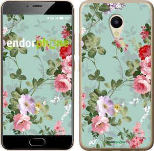 """Силиконовый чехол для Meizu M5 """"Цветочные обои 2"""" - интернет-магазин чехлов endorphone.com.ua"""