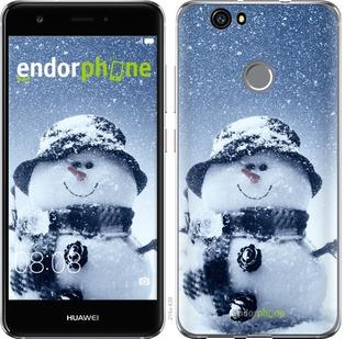 """Чехол для Huawei Nova """"Весёлый снеговичёк"""" - интернет-магазин чехлов endorphone.com.ua"""