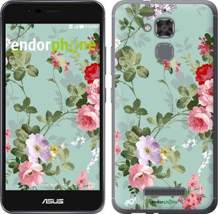 """Силиконовый чехол для Asus Zenfone 3 Max ZC520TL """"Цветочные обои 2"""" - интернет-магазин чехлов endorphone.com.ua"""