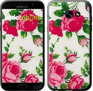 """Чехол для Samsung Galaxy A5 (2017) """"Розы на белом фоне"""" - интернет-магазин чехлов endorphone.com.ua"""