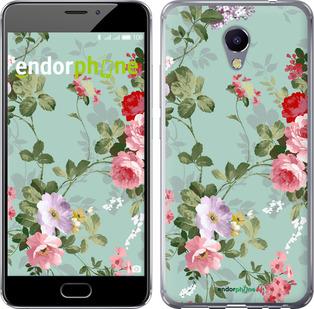 """Чехол для Meizu M5 Note """"Цветочные обои 2"""" - интернет-магазин чехлов endorphone.com.ua"""