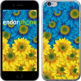 """для iPhone 6s Plus """"Жёлто-голубые цветы"""" - интернет-магазин чехлов endorphone.com.ua"""
