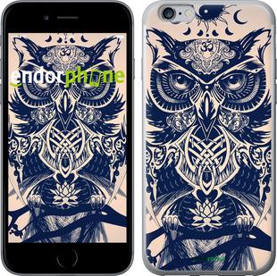 """Чехол для iPhone 6 Plus """"Узорчатая сова"""" - интернет-магазин чехлов endorphone.com.ua"""