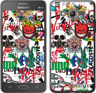 "Чехол для Samsung Galaxy Grand Prime VE G531H ""Many different logos"" - интернет-магазин чехлов endorphone.com.ua"