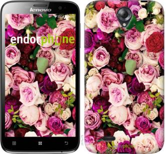 """Чехол для Lenovo A850 """"Розы и пионы"""" - интернет-магазин чехлов endorphone.com.ua"""