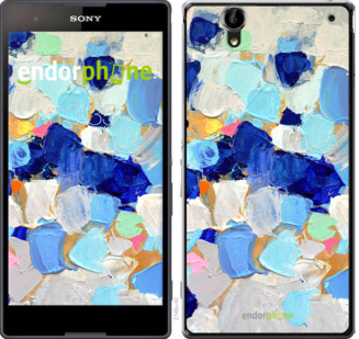"""Чехол для Sony Xperia T2 Ultra Dual D5322 """"Холст с красками"""" - интернет-магазин чехлов endorphone.com.ua"""