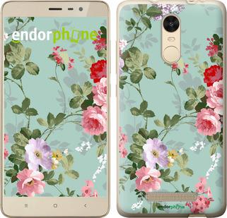 """Чехол для Xiaomi Redmi Note 3 pro """"Цветочные обои 2"""" - интернет-магазин чехлов endorphone.com.ua"""