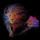 """Чехол для iPhone 5 """"Абстрактный лев 2"""" - интернет-магазин чехлов endorphone.com.ua"""