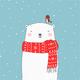 """Чехол для Samsung Galaxy J7 J700H """"Белый мишка"""" - интернет-магазин чехлов endorphone.com.ua"""
