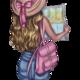 """Чехол для iPhone 5 """"Девушка с картой"""" - интернет-магазин чехлов endorphone.com.ua"""