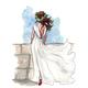 """Чехол для iPhone 5 """"Элегантная девушка"""" - интернет-магазин чехлов endorphone.com.ua"""