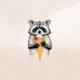 """Силиконовый чехол для  """"Енотик с мороженым"""" - интернет-магазин чехлов endorphone.com.ua"""