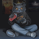 """Защитный чехол для iPhone 5 """"gamer cat"""" - интернет-магазин чехлов endorphone.com.ua"""
