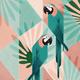 """Гибридный чехол для iPhone 5 """"Geometric birds"""" - интернет-магазин чехлов endorphone.com.ua"""