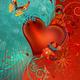 """Защитный чехол для iPhone 5 """"Сердце в цветах"""" - интернет-магазин чехлов endorphone.com.ua"""