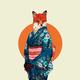 "Чехол для iPhone 5 ""Лиса в кимоно"" - интернет-магазин чехлов endorphone.com.ua"