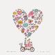 """Гибридный чехол для iPhone 5 """"Любовь v3"""" - интернет-магазин чехлов endorphone.com.ua"""