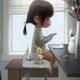 """Гибридный чехол для iPhone 5 """"Милая девочка с зайчиком"""" - интернет-магазин чехлов endorphone.com.ua"""