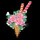 """Чехол для iPhone 11 Pro Max """"Мороженое-пионы"""" - интернет-магазин чехлов endorphone.com.ua"""