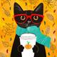 """Гибридный чехол для iPhone 5 """"Осенний кот"""" - интернет-магазин чехлов endorphone.com.ua"""