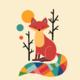 "Чехол для iPhone 6 Plus ""Rainbow fox"" - интернет-магазин чехлов endorphone.com.ua"