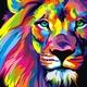 """Чехол для Asus Zenfone 3 ZE520KL """"Разноцветный лев"""" - интернет-магазин чехлов endorphone.com.ua"""