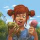 """Защитный чехол для iPhone 5 """"Рыжеволосая девочка с лягушкой"""" - интернет-магазин чехлов endorphone.com.ua"""