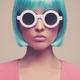 """Защитный чехол для iPhone 5 """"Синеволосая девушка в очках"""" - интернет-магазин чехлов endorphone.com.ua"""